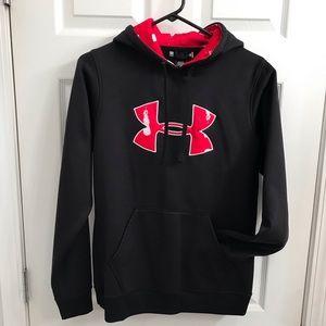 UNDER ARMOUR Black Sweatshirt Hoodie  Medium